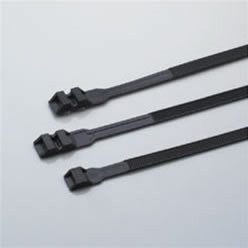 Double button nylon cable tie